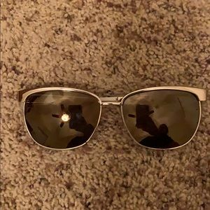 Juicy Couture Accessories - Juicy Couture Gold and White Sunglasses
